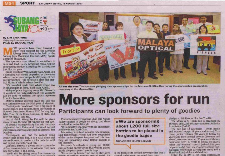 Write Up The Star Charity Walk Sponsor