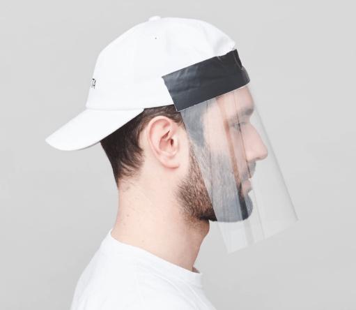 Mykita cap face shield
