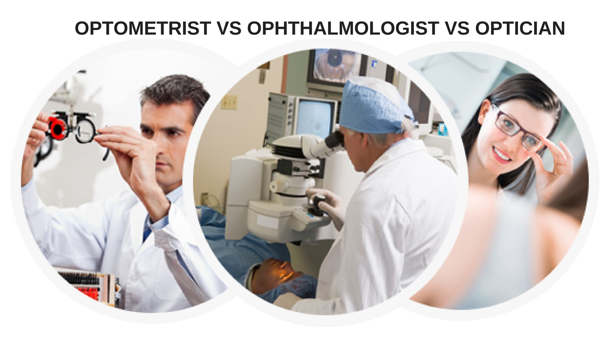 optician vs optometrist vs ophthalmologist