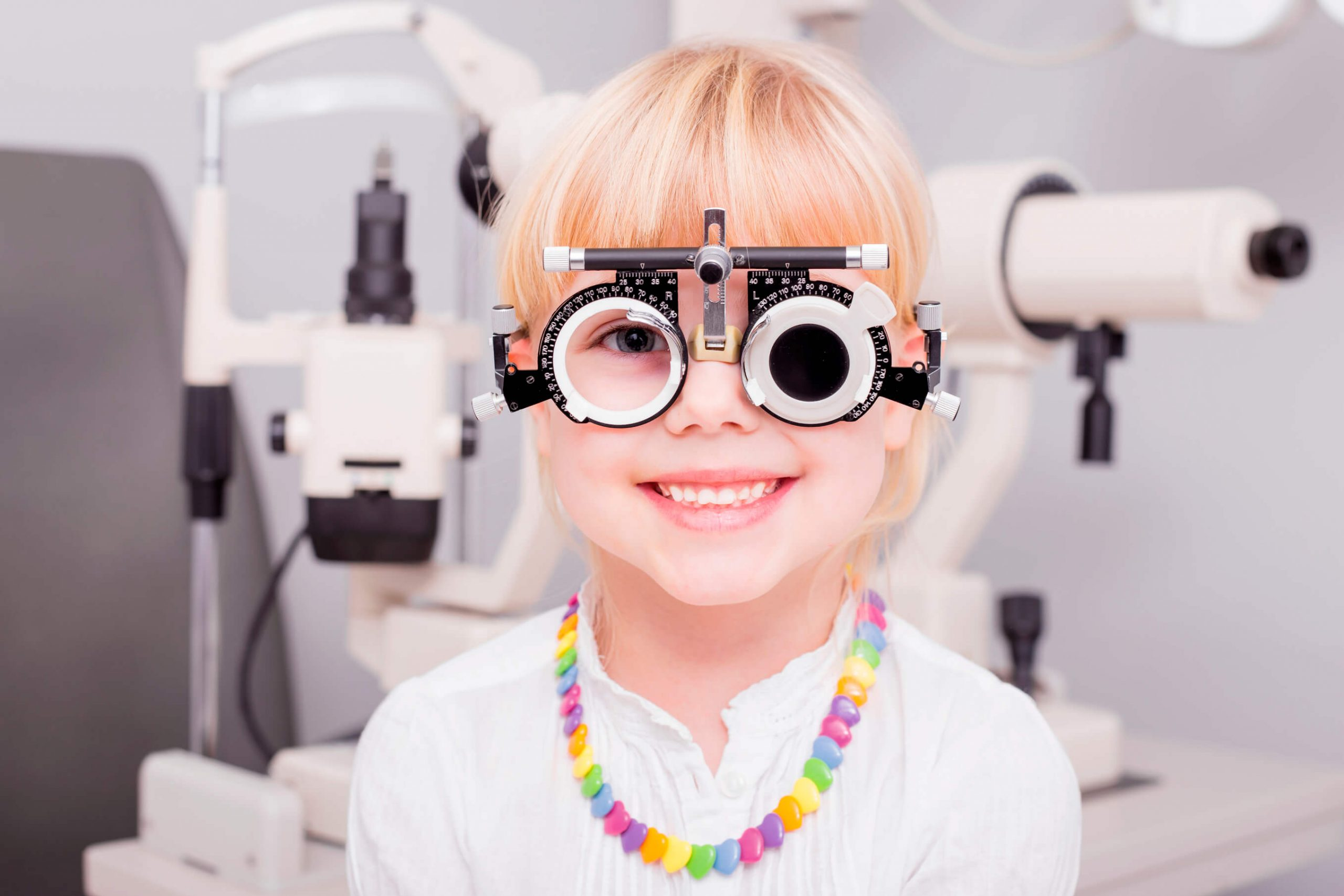 Children with Myopia and Amblyopia