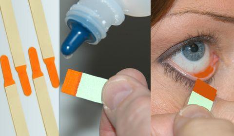 Ujian fluorescein untuk mata kering