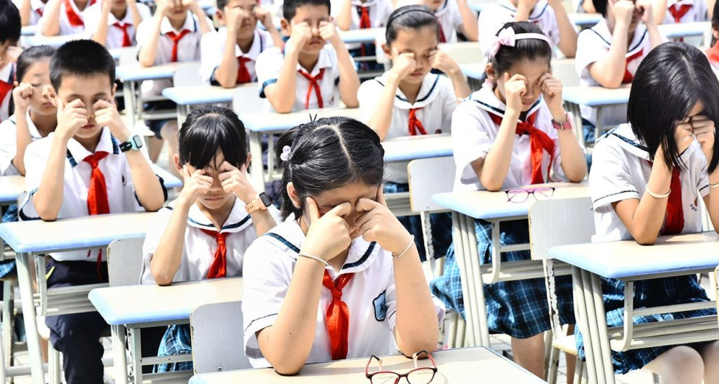 Good eyesight in kids