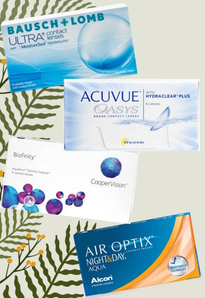 Four most comfortable contact lenses