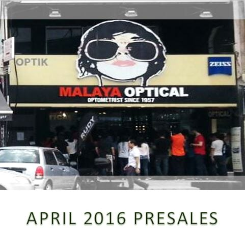 0f9382df94d2 Malaya Optical is having its April 2016 pre-sales of recent. The promotion  period is extended throughout the month of April.