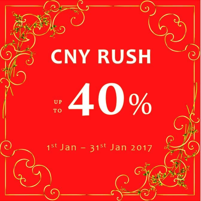 Chinese New Year 2017 Rush Promotion