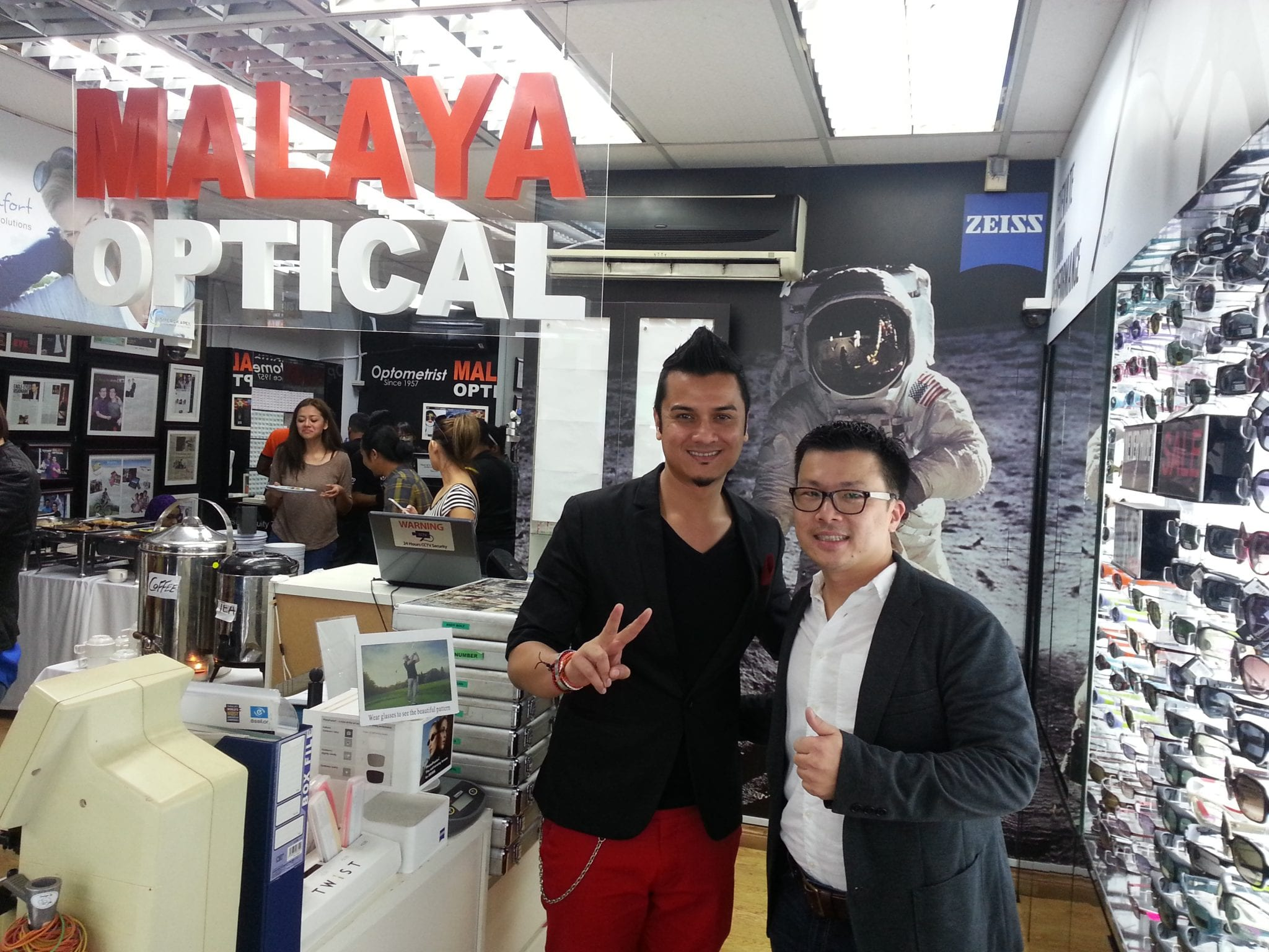 Celebrity Chef Dat Fazley at Malaya Optometrist in Petaling Jaya