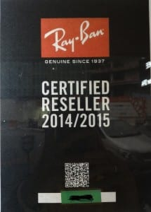 Ray-Ban-certified-reseller-sticker